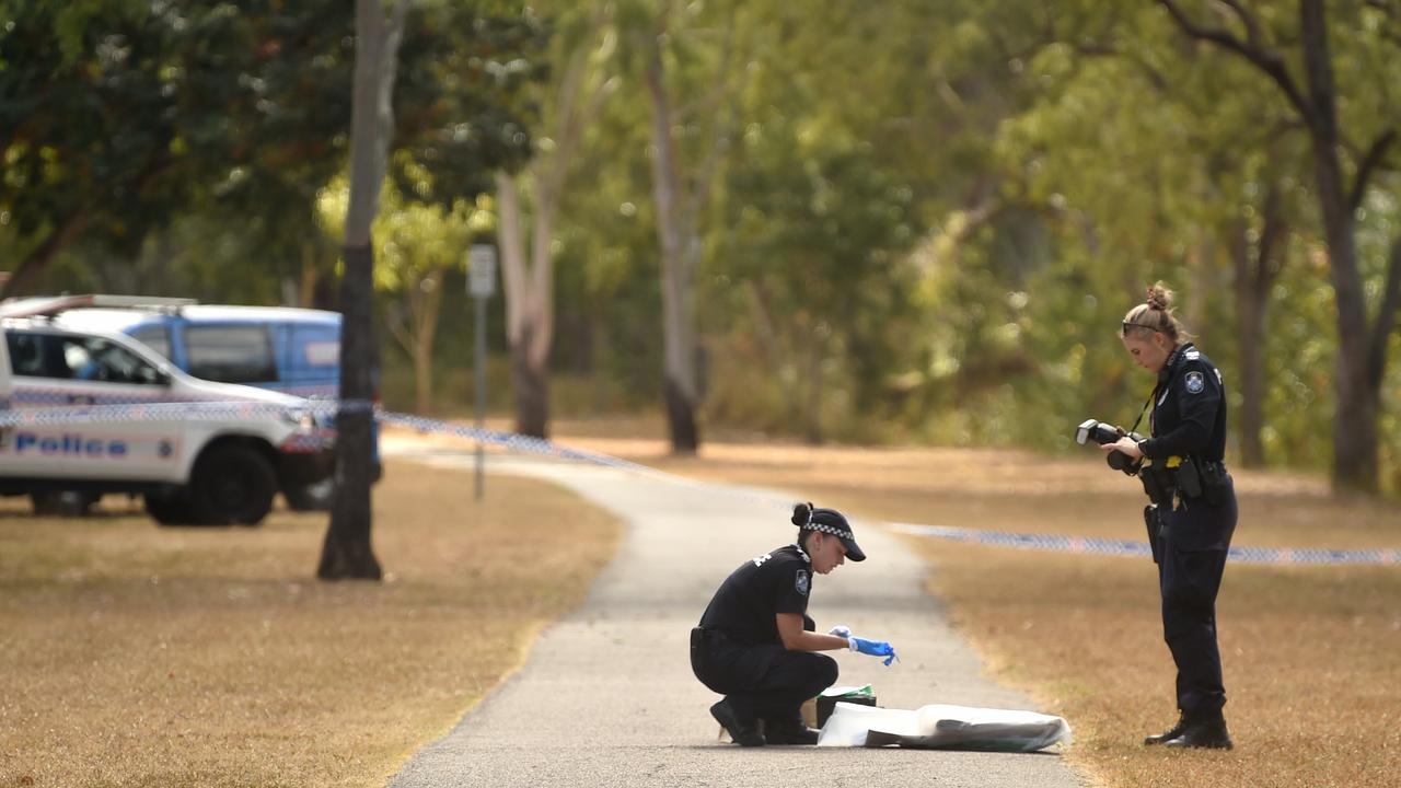 Police investigate a reported rape in a park at Cranbrook. Picture: Evan Morgan