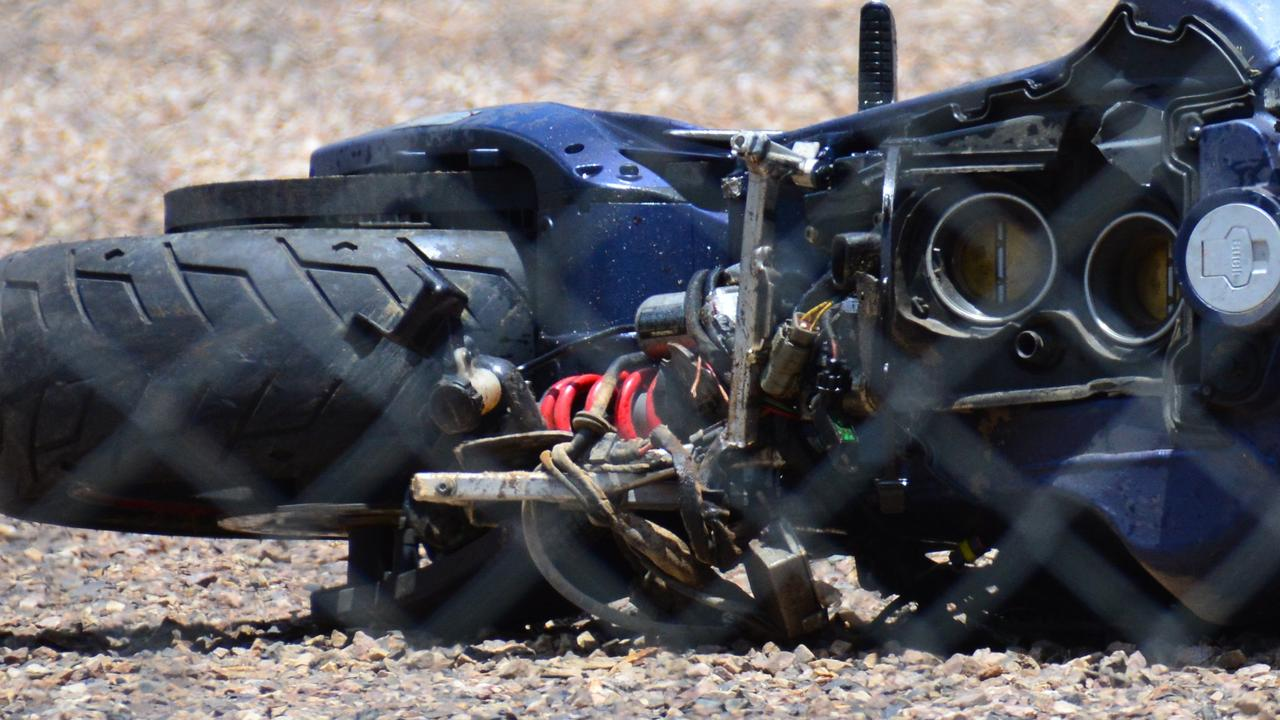 Two people were taken to hospital after a multi-motorbike crash at Kin Kin this morning.