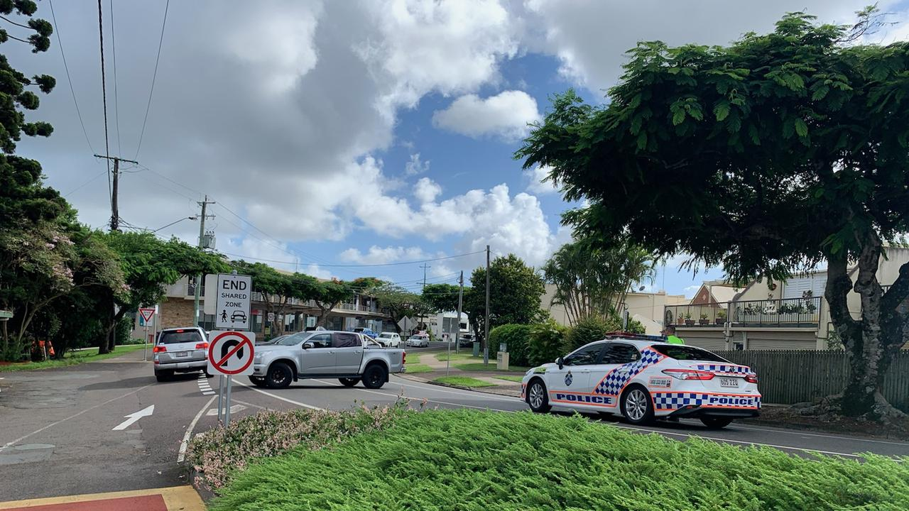 Emergency services are on the scene of a three-car crash on Burnett Street in Buderim which is blocking traffic. Picture: Stuart Cumming