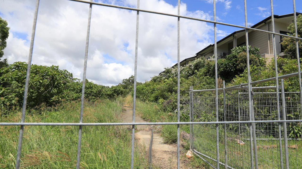 The public path that's been closed almost five years since a landslip. Photo: Scott Powick NEWSCORP