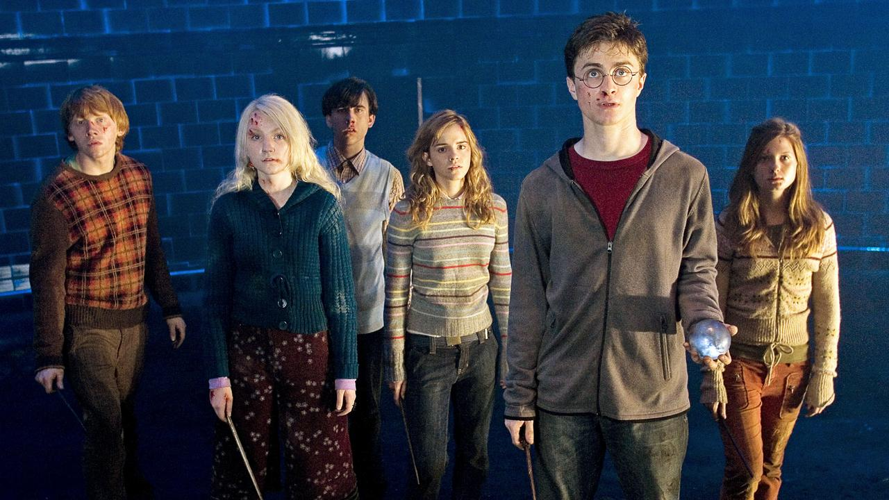 Rupert Grint, Evanna Lynch, Matthew Lewis, Emma Watson, Daniel Radcliffe and Bonnie Wright on 'Harry Potter and the Order of the Phoenix.'