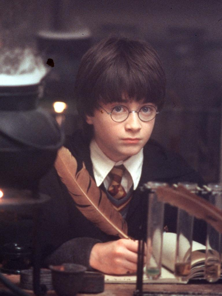 Daniel Radcliffe in the 2001 film Harry Potter and the Philosopher's Stone.