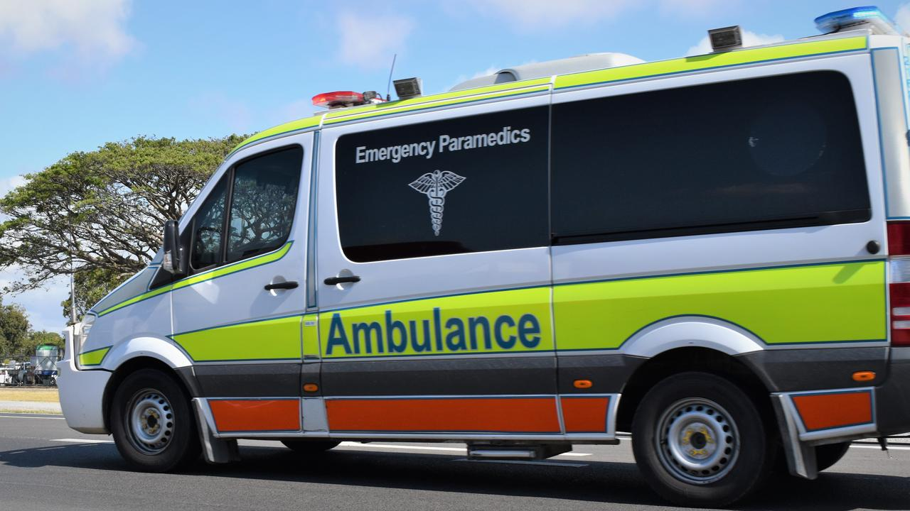 A child was taken to Mackay Base Hospital with a head injury following a two vehicle traffic crash. Picture: Heidi Petith