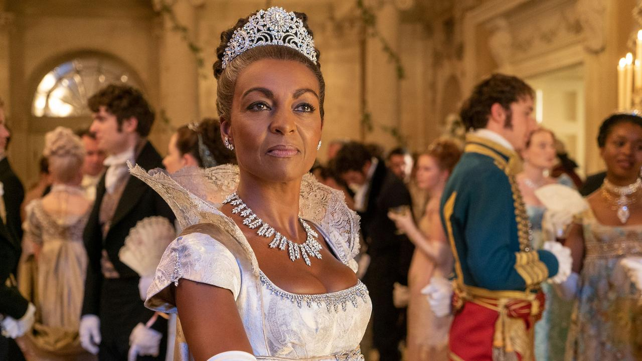 Adjoa Andoh played social butterfly Lady Danbury in Bridgerton. Picture: Netflix