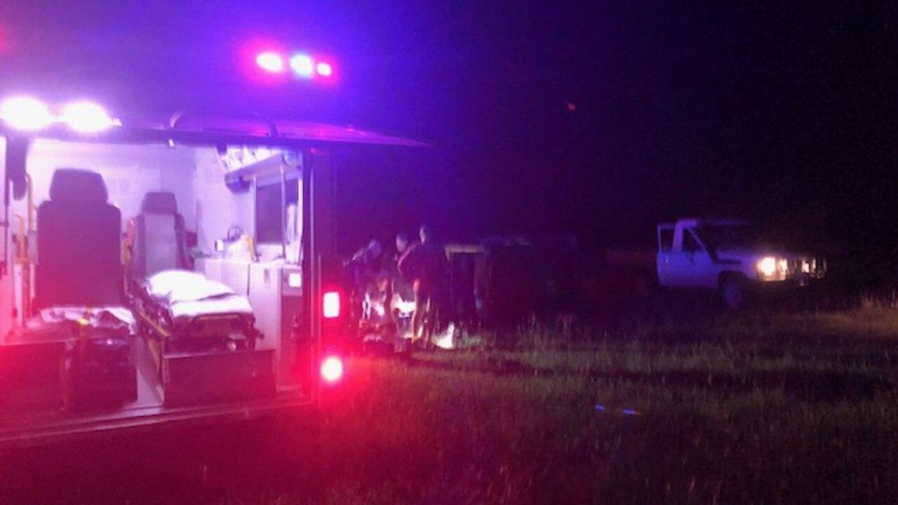 RACQ Capricorn Rescue responding to a reported ATV rollover at a property in Ogmore on Saturday night. Picture: RACQ Capricorn Rescue