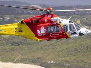 Dramatic rescue, injured swimmer winched to safety