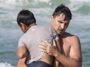 Ex-Bronco saves young boy in dramatic beach rescue