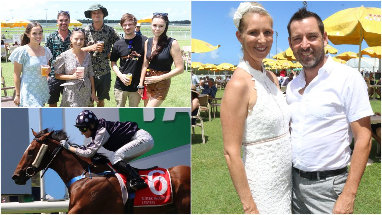 A large crowd turned out to enjoy the Sunshine Coast Cup race day at Corbould Park on Saturday. Picture: Tom Threadingham