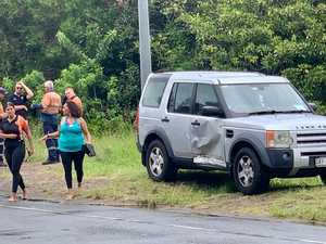 Baby, mum in hospital after two-vehicle smash