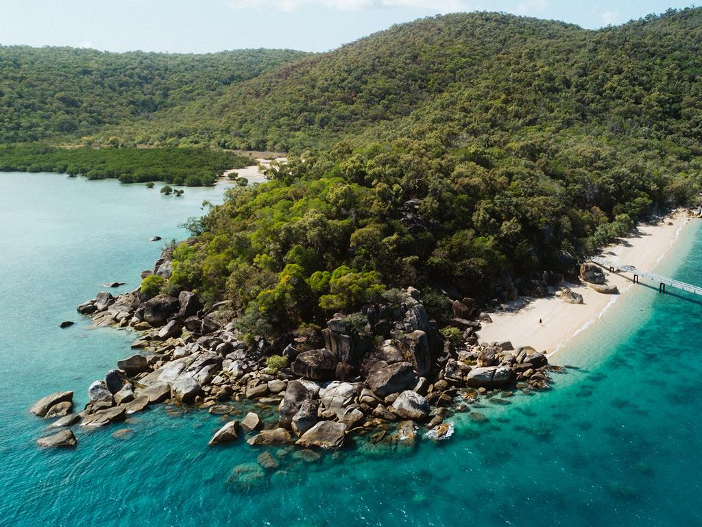 A Qantas customer redeemed his points on a luxurious stay at Queensland's Orpheus Island.