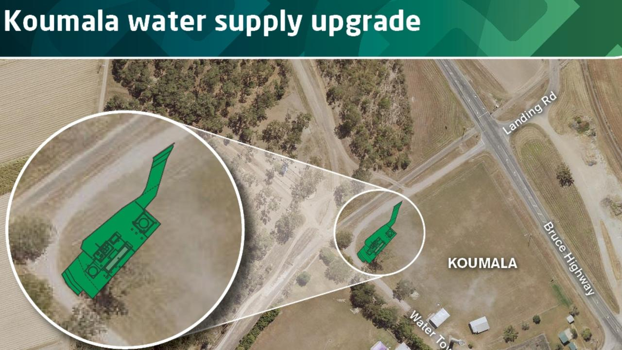 The location and design of the new Koumala water treatment plant. Picture: Mackay Regional Council