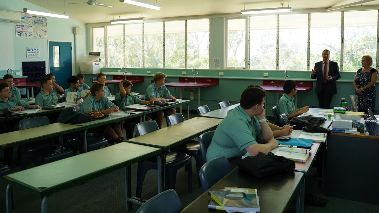 Federal Member for Capricornia Michelle Landry visiting St Brendan's College in Yeppoon. Picture: Contributed