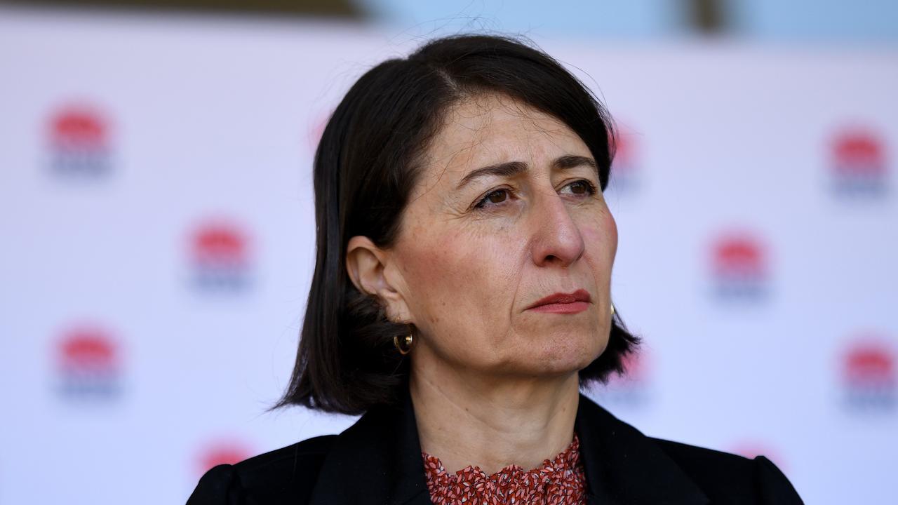 NSW Premier Gladys Berejiklian address the media. Picture: NCA NewsWire/Bianca De Marchi