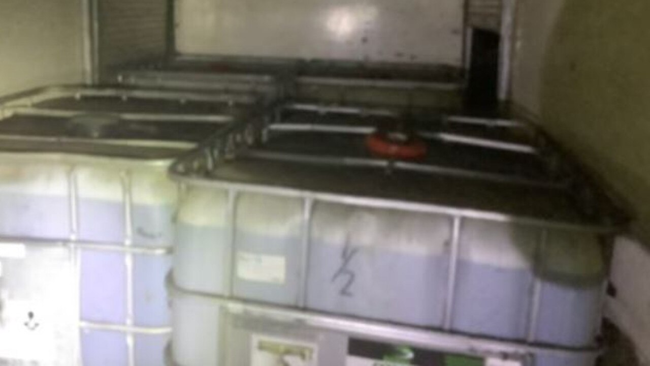Containers filled with about 4000 litres of diesel were found in the truck, police allege. Picture: QPS