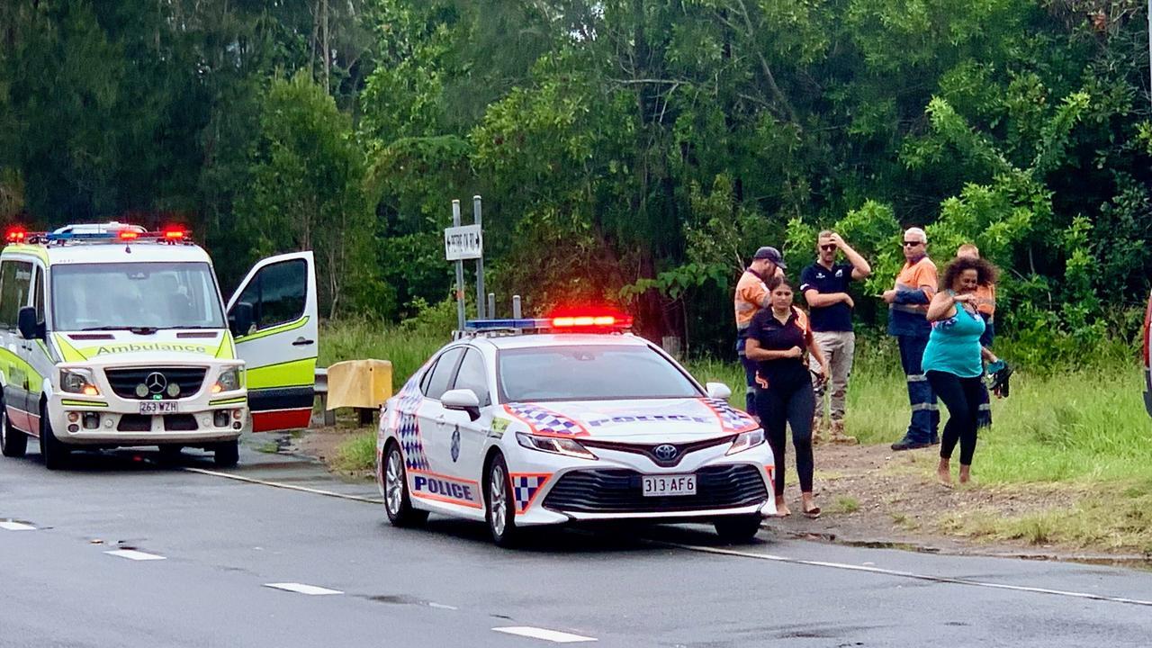 Paramedics were called to a two-vehicle crash at Diddillibah. Photo: Patrick Woods