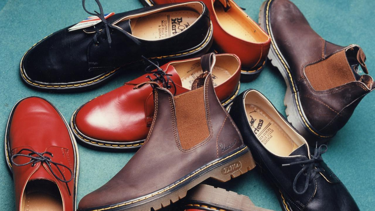 The many variations of boots and shoes that Dr Martens sells. Picture: News Corp Australia