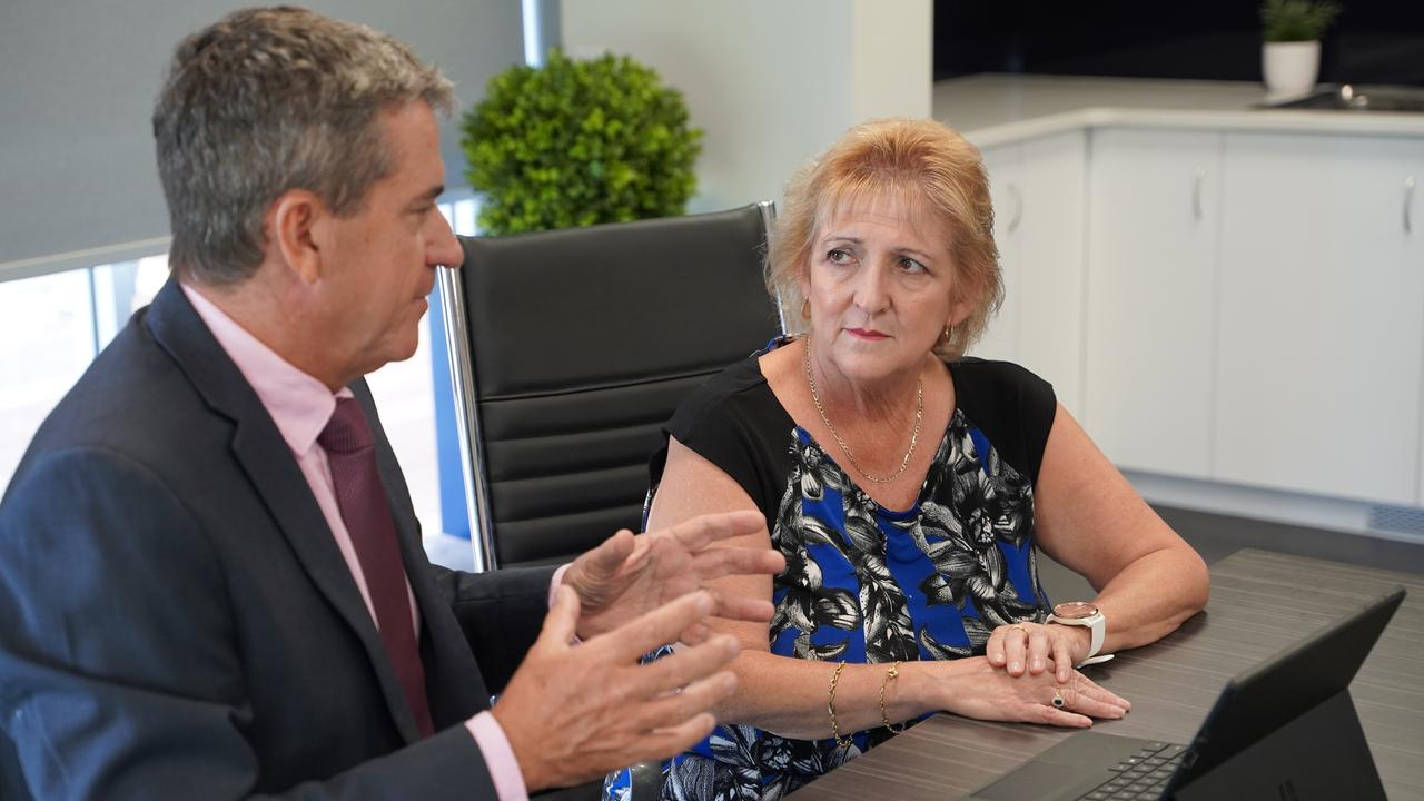 Principal of St Brendan's College Robert Corboy with Federal Member for Capricornia Michelle Landry. Picture: Contributed