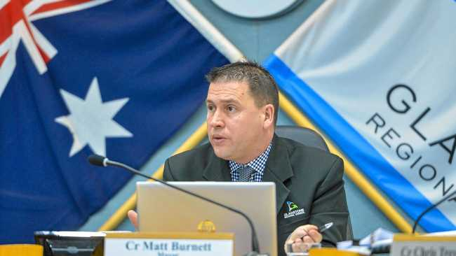Gladstone Mayor Matt Burnett at the September 2 council meeting.