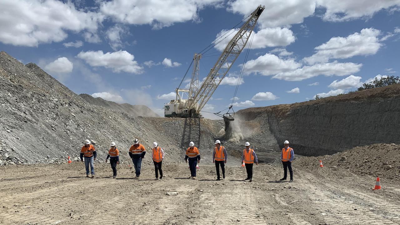 Premier Annastacia Palaszczuk visits the Isaac Plains coal mine.