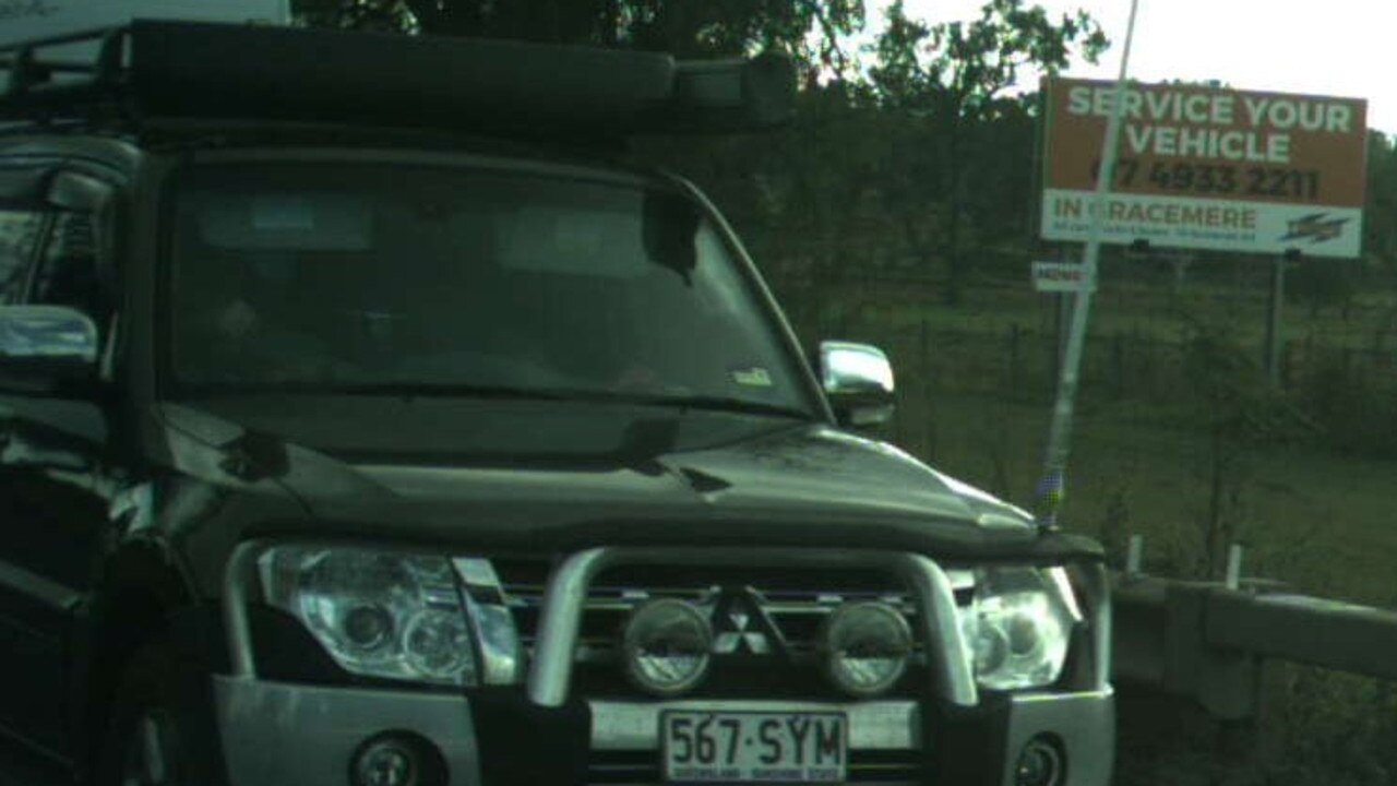 The Mitsubishi Pajero was stolen from a Moura address early Monday.