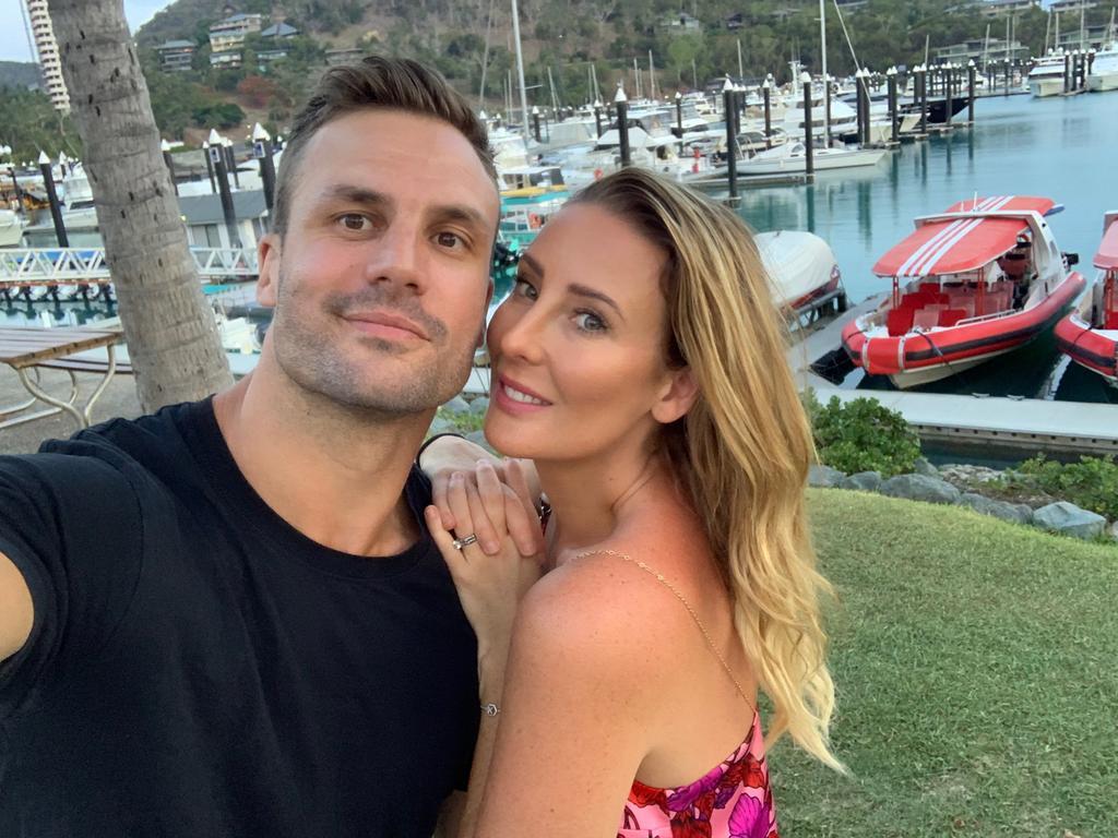 Beau Ryan with wife Kara.