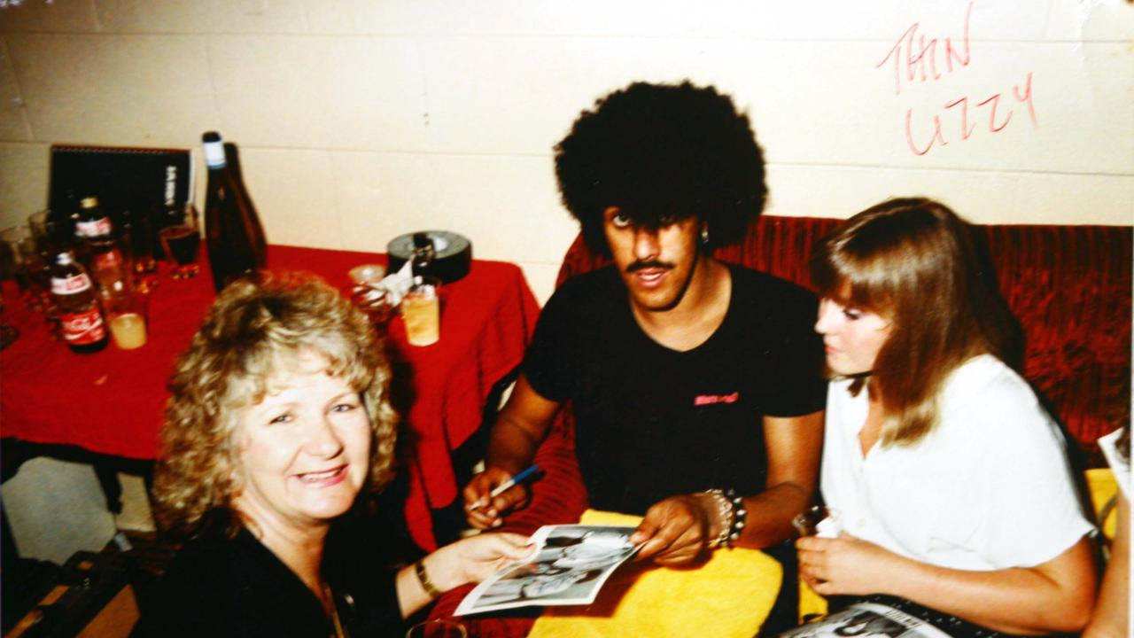 Beryl Carnell with Thin Lizzy.
