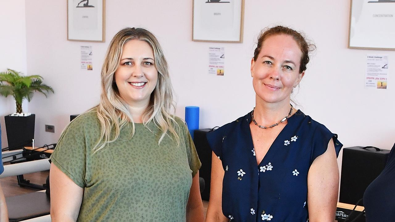 Business owners Jayme King and Michelle Brewer joined Aura Business to help give other local shops and services a leg up following a tough 2020. Picture: Patrick Woods.