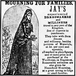 Jay's was the premier warehouse for mainstream Victorian mourning garb.