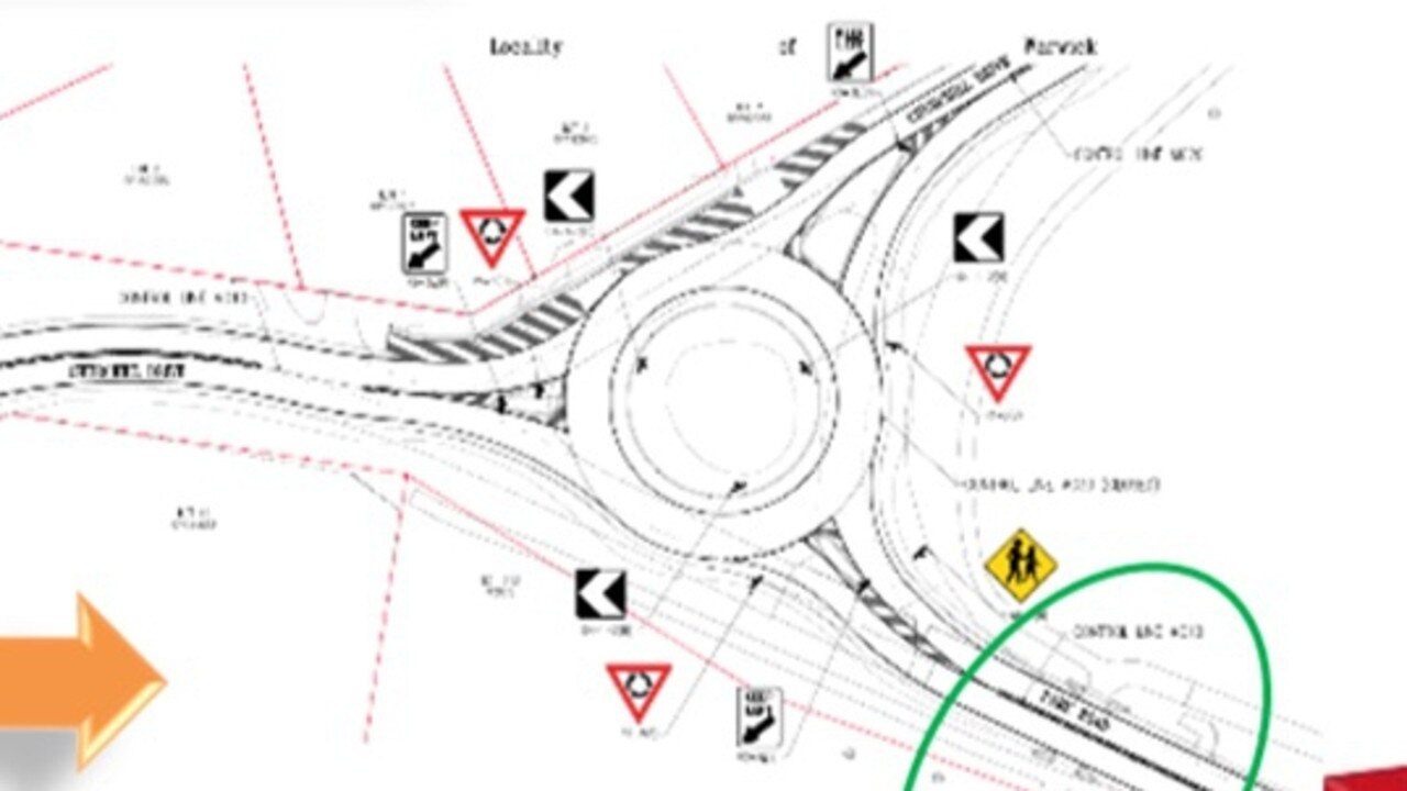 Southern Downs Regional Council's plans for the roundabout upgrades. Picture: SDRC