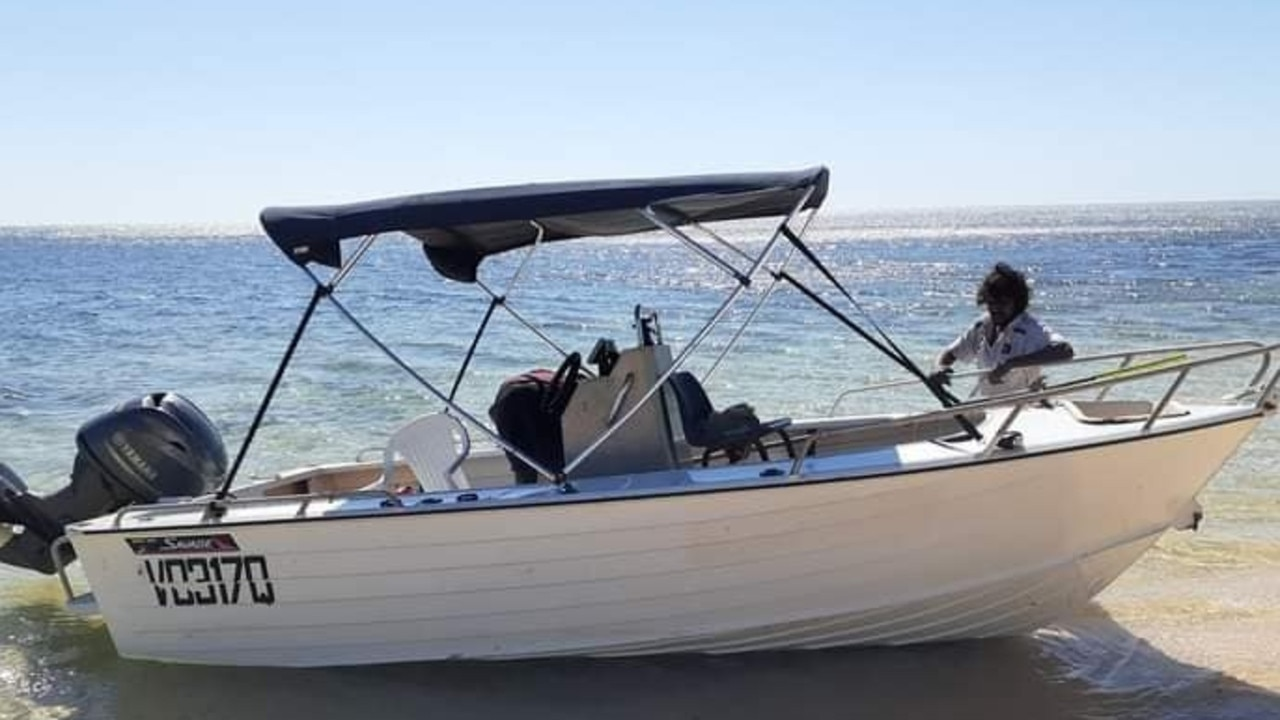 The boat three Yarrabah men were in when they failed to return from a fishing trip. PICTURE: SUPPLIED
