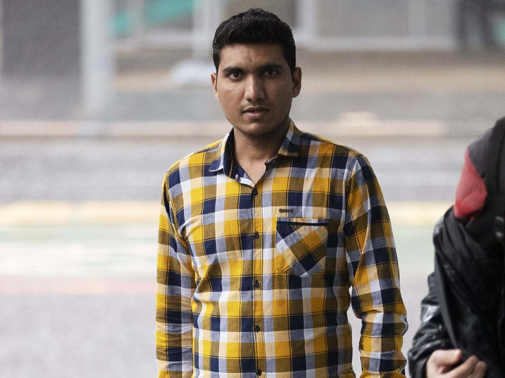 Mitkumar Maheshbhai Patel arrives at Supreme Court. (News Corp/Attila Csaszar)