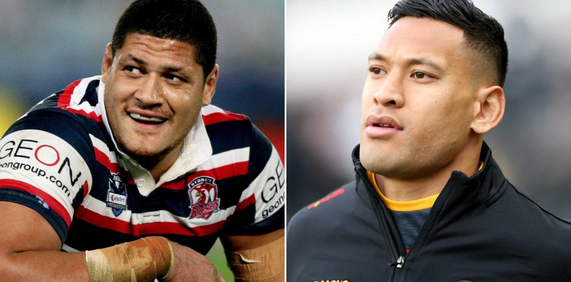 Two NRL legends have launched an impassioned defence of controversial star Israel Folau as he looks set to be handed an NRL lifeline.
