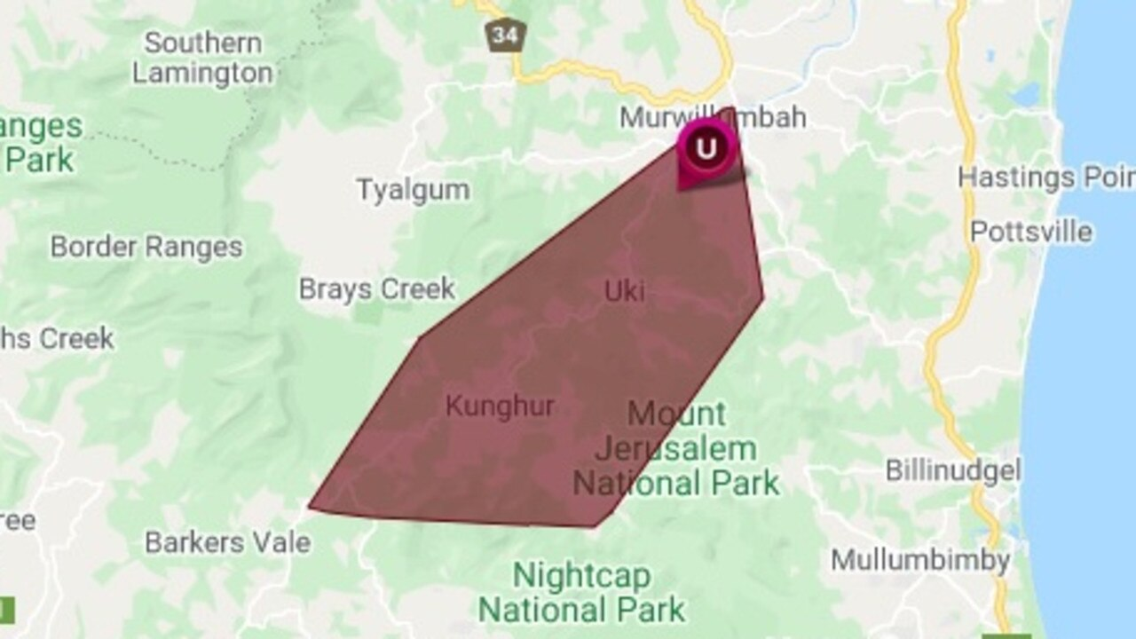 A large number of homes have lost power in the Tweed Valley, according to Essential Energy.