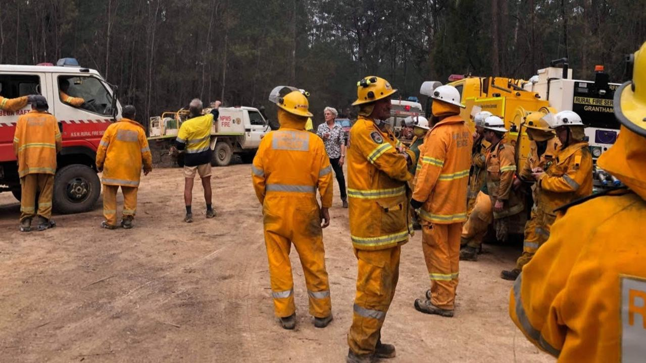 Mackay firefighting crews in NSW helping out their fellow colleagues during the late 2019, early 2020 bushfire disaster. Pictured is Area Training and Support Officer Shane Hopton. Picture: Contributed
