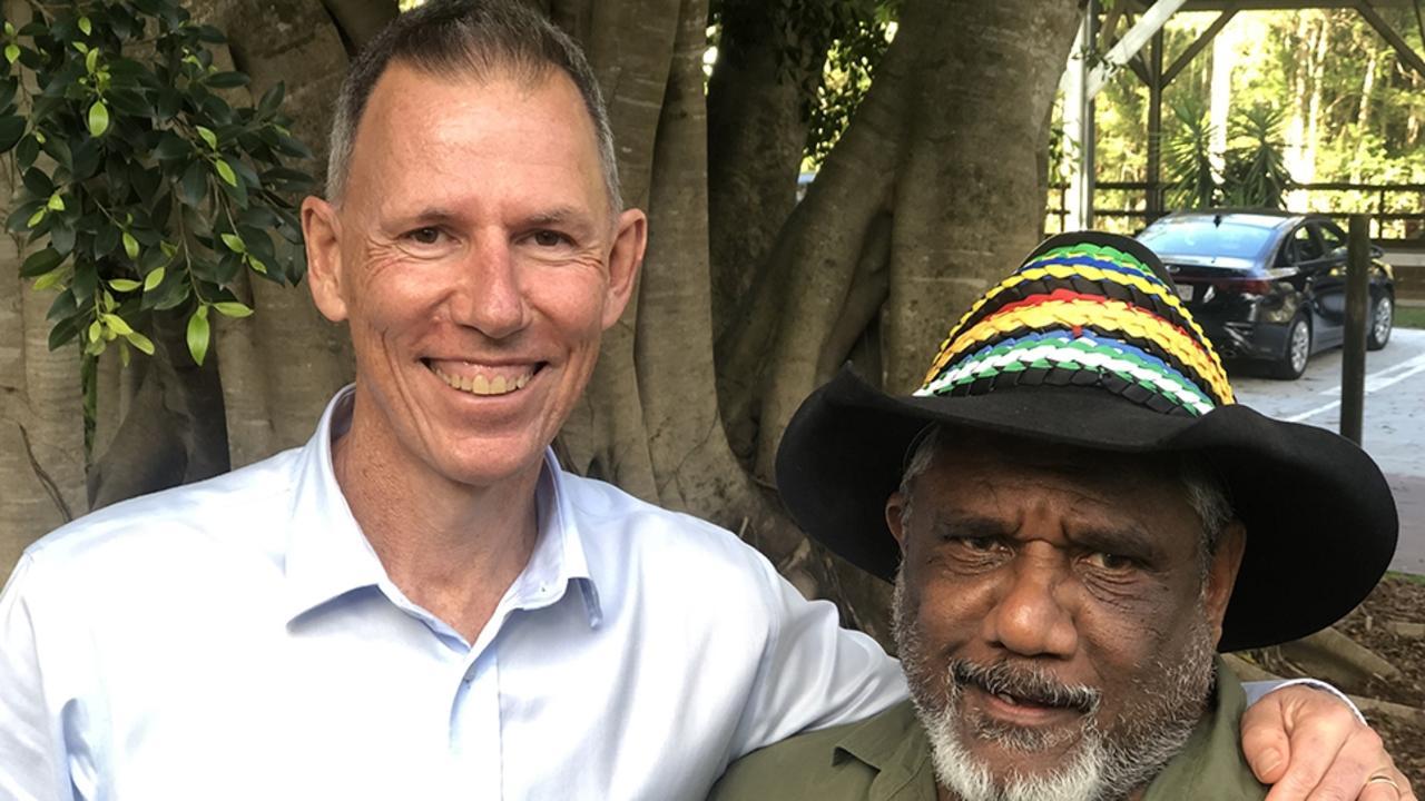 Butterfly Foundation CEO Kevin Barrow and Kabi Kabi Nation Elder Tais K'Reala Randanpi.