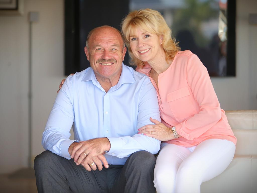 Wally Lewis and wife Jacqui. Picture: Jamie Hanson
