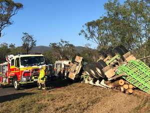 Gladstone truckie in stable condition after serious crash