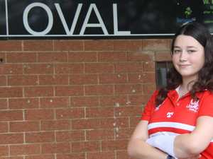 This teen AFL player is taking on umpiring challenge