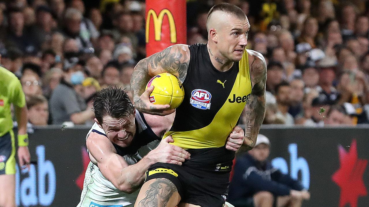 Dustin Martin is one of the top players in the AFL, let alone at Tigerland. Picture: Sarah Reed