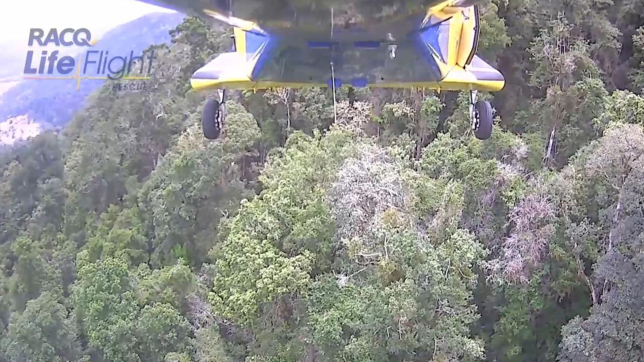 The Toowoomba-based RACQ LifeFlight chopper flew a 29-year-old man to hospital with significant injuries following a December Mt Superbus incident.