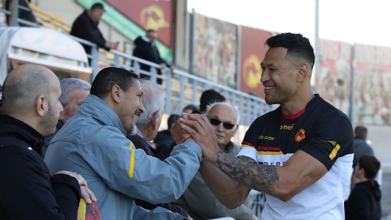 Folau has been playing the English Super League for Catalan Dragons.