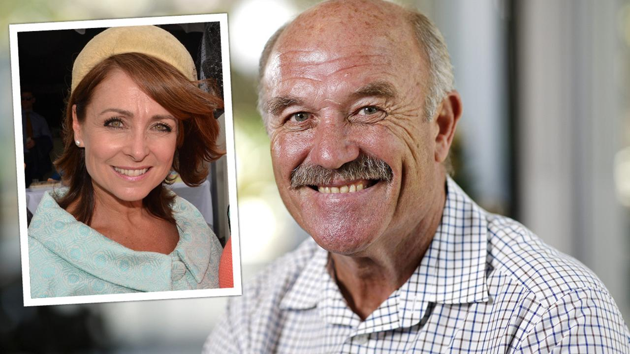 Wally Lewis and his new love, Townsville volunteer worker and writer Lynda Adams.