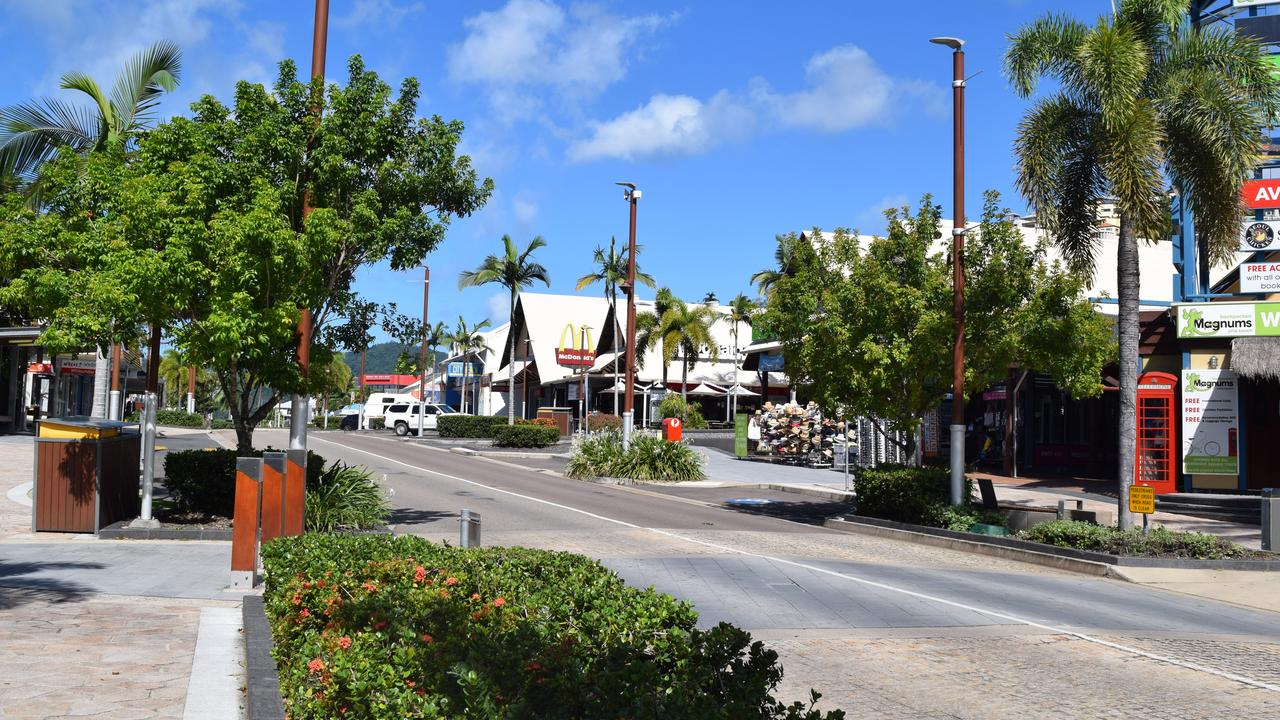 A man spear tackled his girlfriend to the ground in the alleyway between Woolworths and BWS on the Airlie Beach main strip. Photo: File