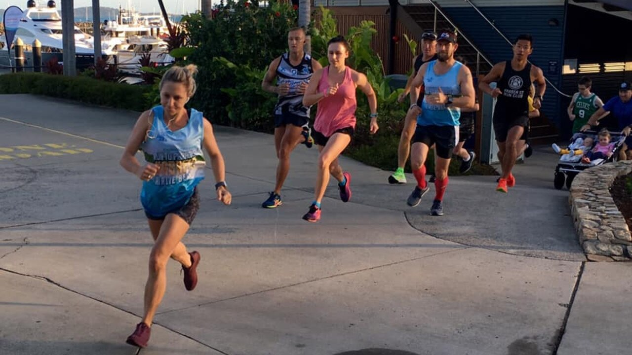 The field powers away from the start line at Airlie Beach parkrun. The team would like to get junior parkrun up and running again. Photo: File