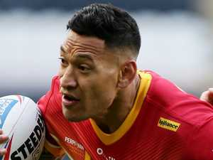Sensational backflip puts Folau NRL return on hold