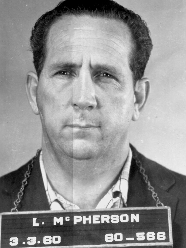 Police mugshot of criminal and businessman Lennie McPherson.