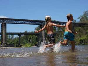 Railway repairs close part of popular Mackay swimming spot