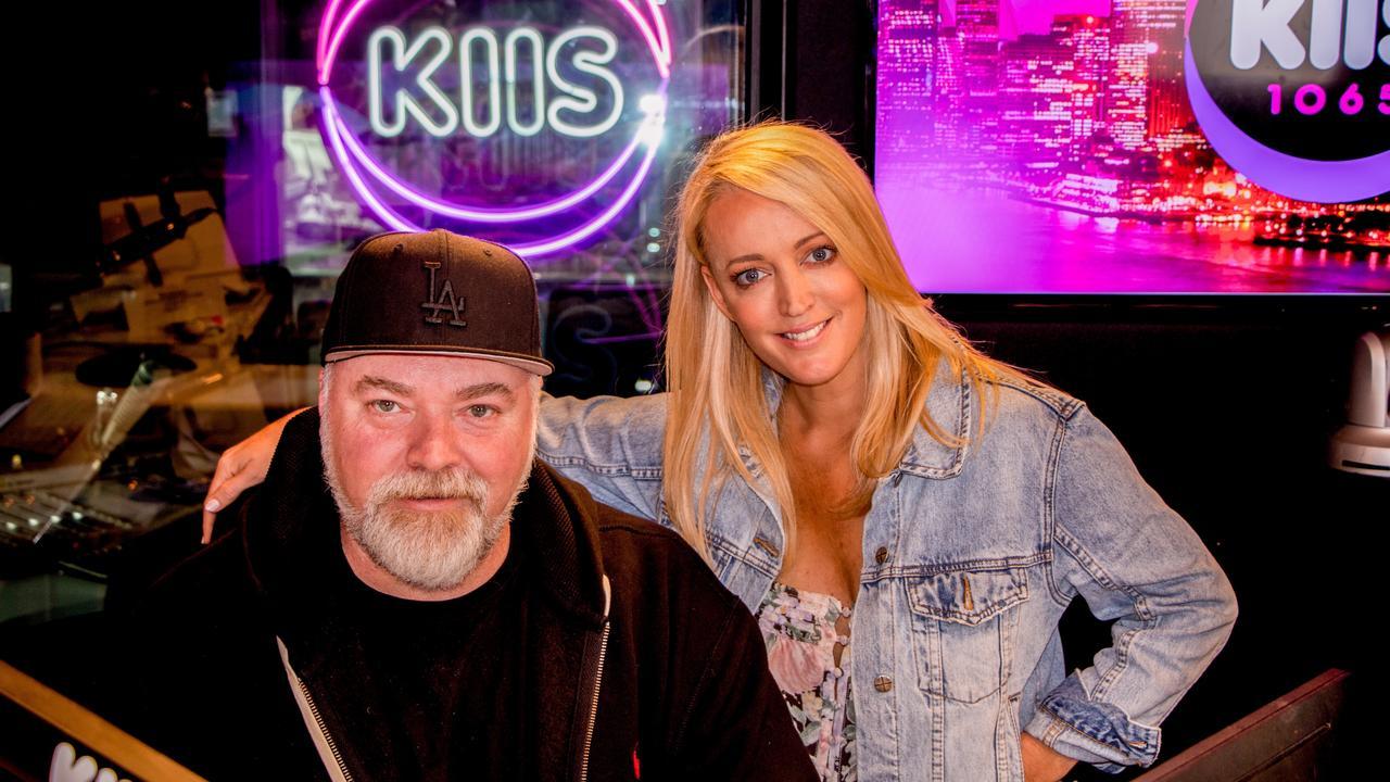 Kyle Sandilands and Jackie O in their studio.
