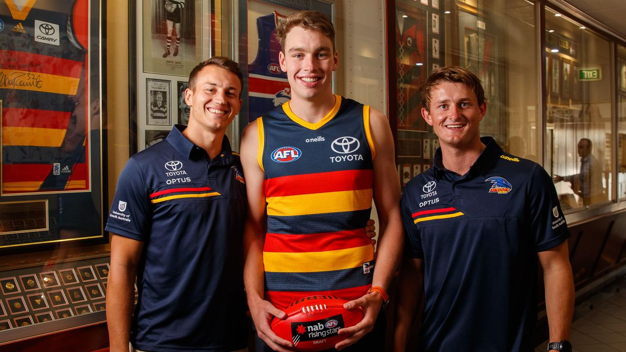 Adelaide will be hoping young guns Tom Doedee and Riley Thilthorpe will become elite players, and that Matt Crouch can return to his best. Picture: Matt Turner