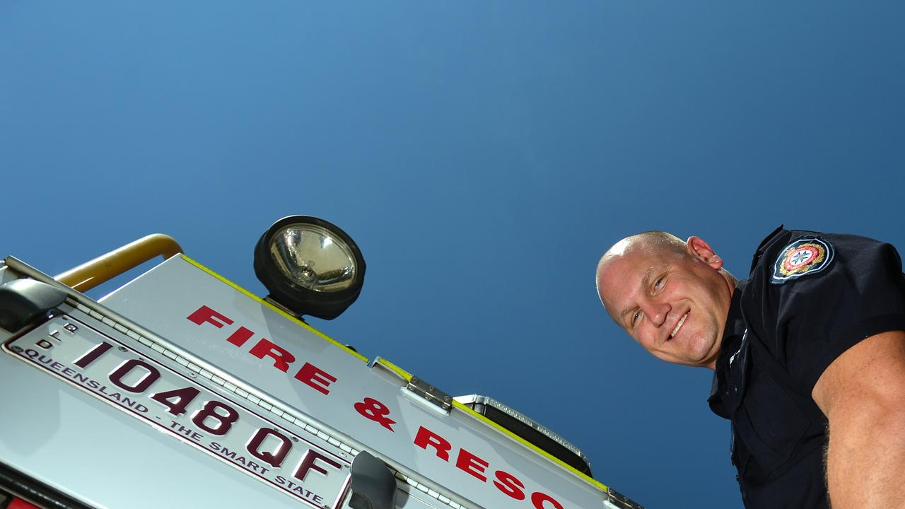 Ex-Cowboys player Travis Norton is a firefighter at Bli Bli. Picture: John McCutcheon